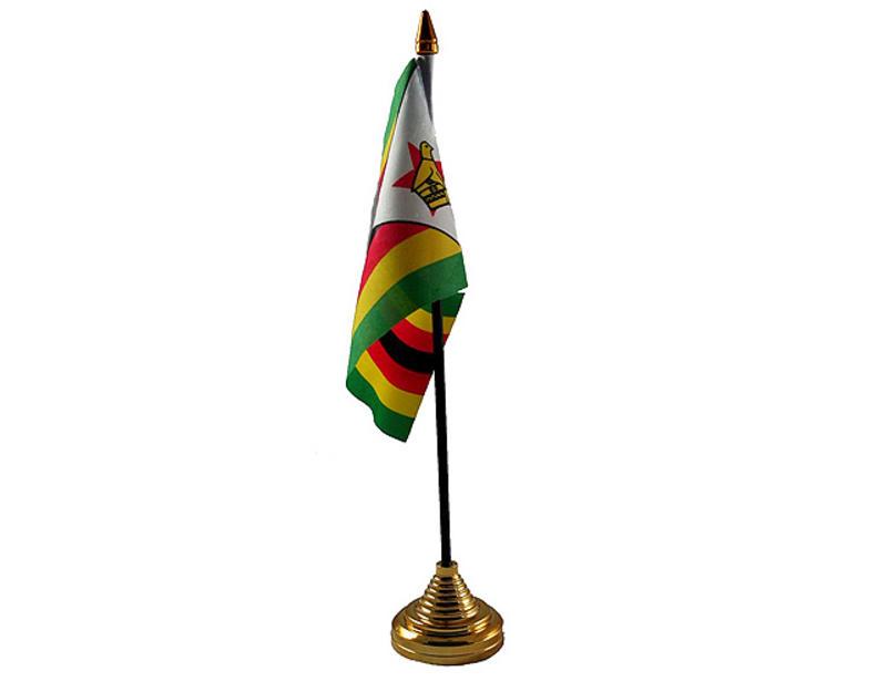 Zimbabwe Hand Table or Waving Flag Zimbabwean