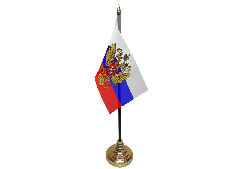 Russia (Eagle) Hand Table or Waving Flag Russian