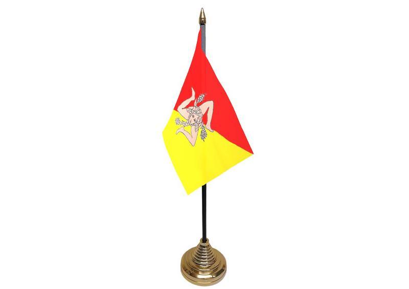 Sicily Hand Table or Waving Flag Italian Region