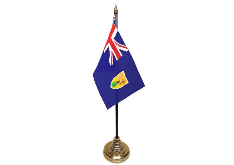 Turks & Caicos Hand Table or Waving Flag