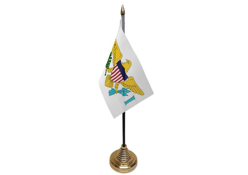 US Virgin Islands Hand Table or Waving Flag