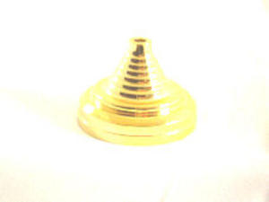 Gold Plastic Pyramid Table Flag Base With 1 Hole