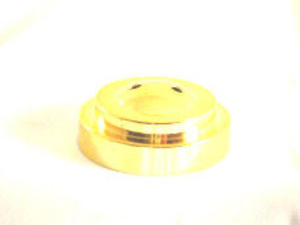 Gold Plastic Flat Table Flag Base With 2 Holes