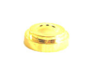Gold Plastic Flat Table Flag Base With 3 Holes