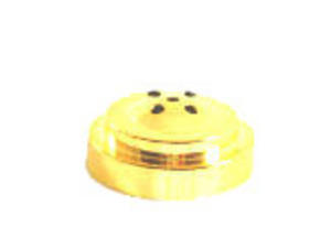 Gold Plastic Flat Table Flag Base With 5 Holes