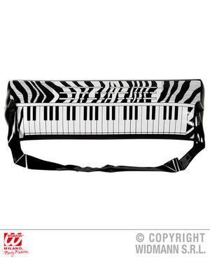 Inflatable Electronic Keyboard 57 Cm Rock Star Fancy Dress Costume Accessory