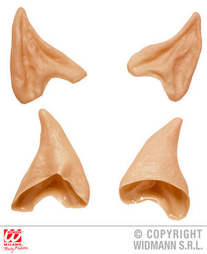 Adult Slip On Elf Ears Christmas Star Trek Fancy Dress Costume Accessory