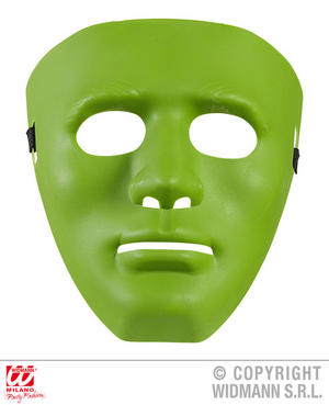 Anonymous Mask Green Fancy Dress Costume Robot Halloween Accessory Adult