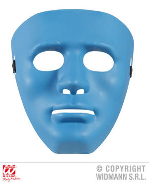Anonymous Mask Blue Fancy Dress Costume Robot Halloween Accessory Adult