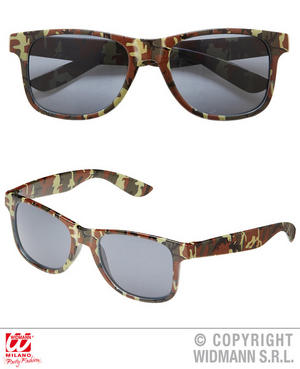 Camouflage Glasses Army Military Fancy Dress Costume Accessory Adult