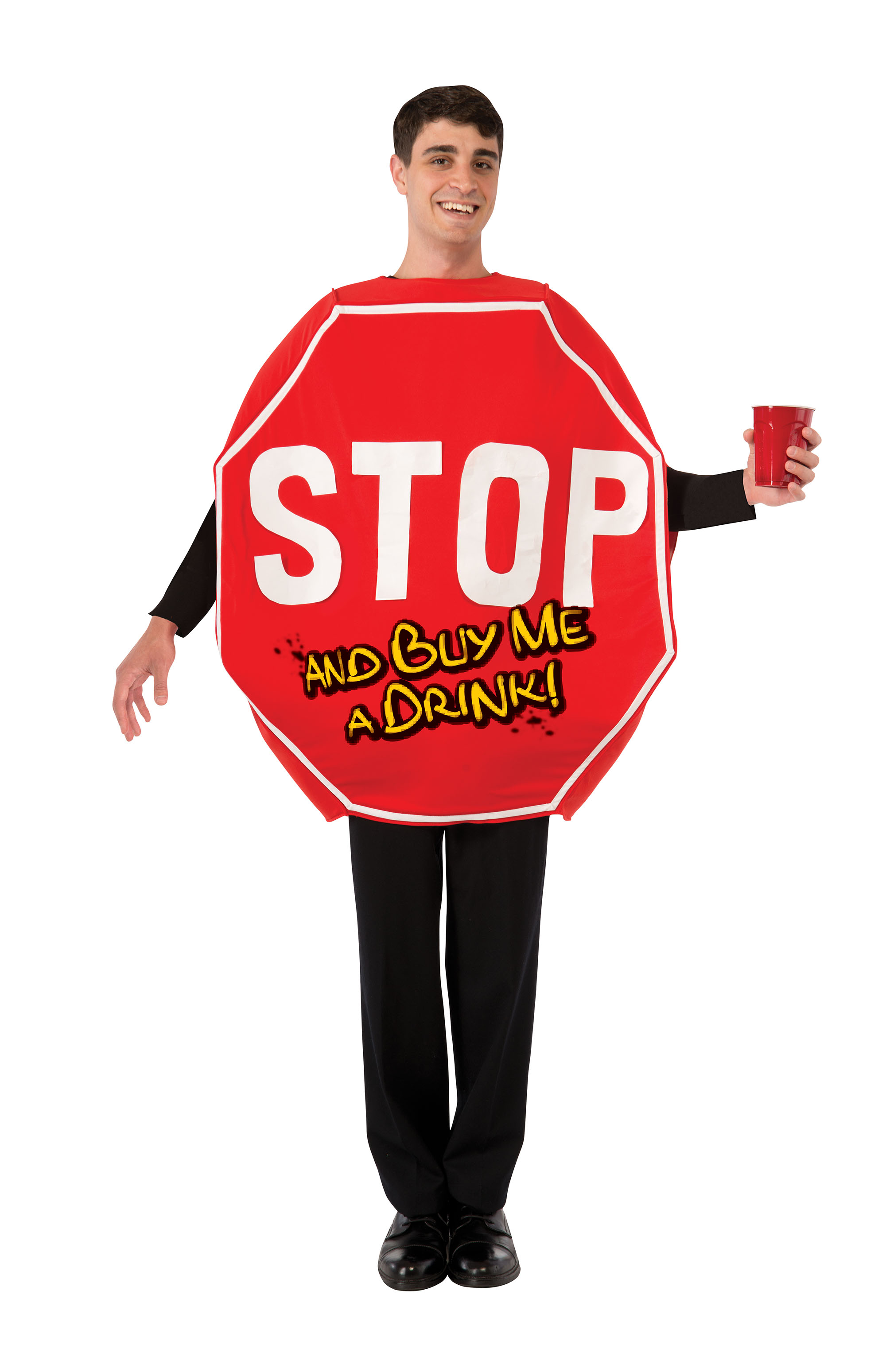 Stop Sign Road Signal Stag Do Novelty Fancy Dress Costume Male Mens Adult