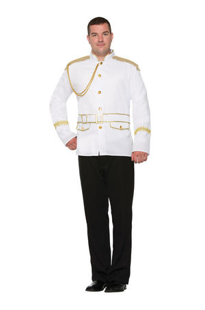 Prince Charming Jacket Fancy Dress Costume Outfit Male Mens Adult One Size