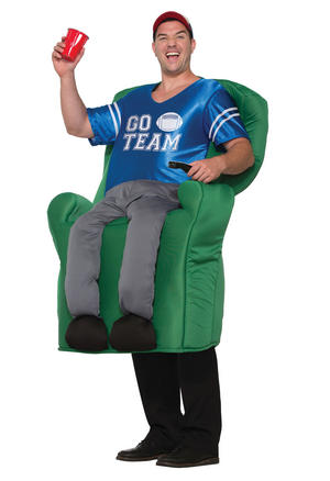 Armchair Fan Quarterback Costume Fancy Dress Costume Male Mens Adult One Size