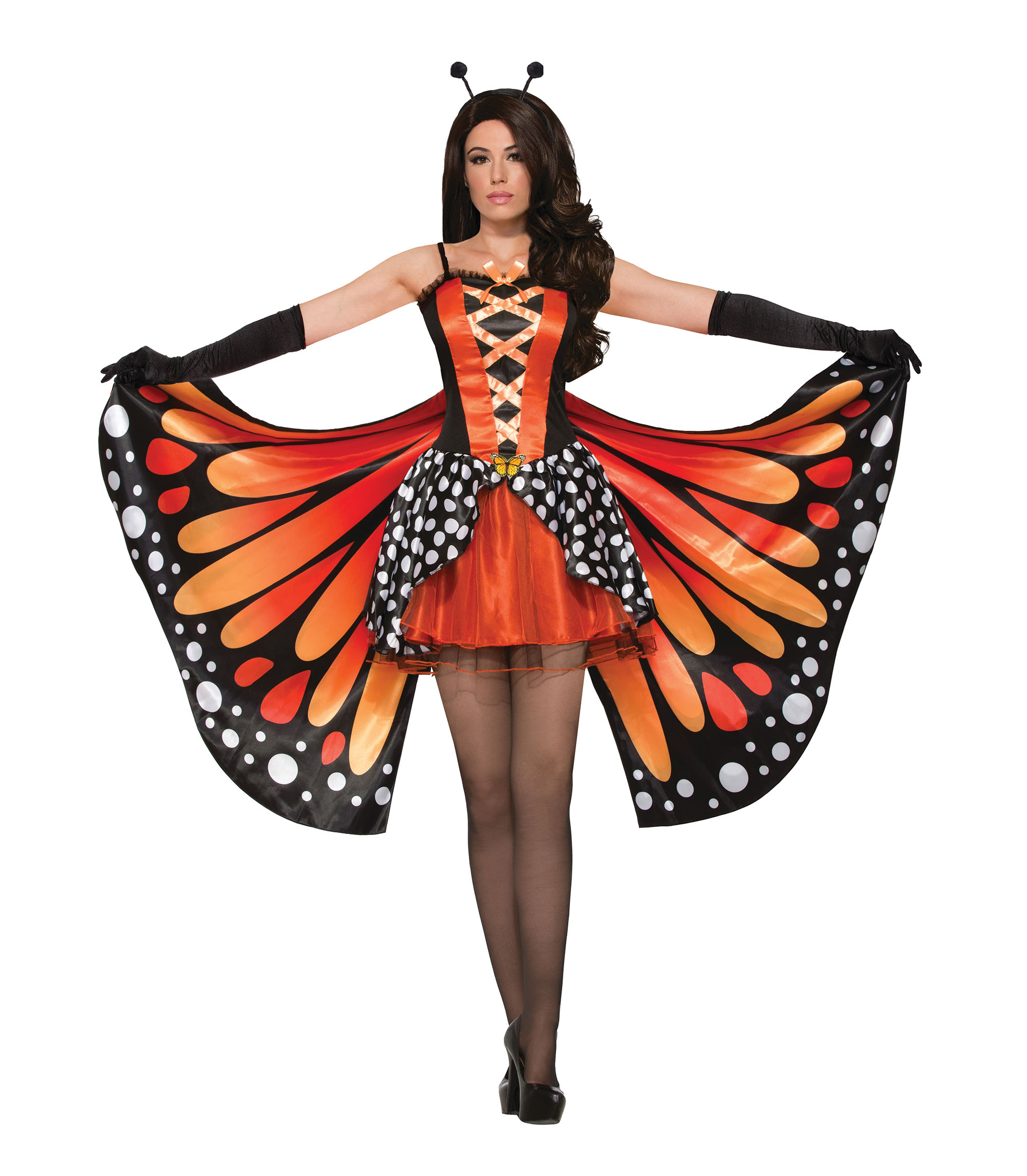 Miss Monarch Butterfly Costume Fancy Dress Costume Outfit Womens Adult UK 10-12
