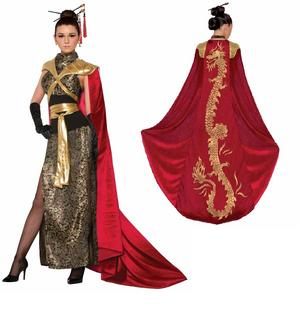 Dragon Empress Costume Fancy Dress Costume Outfit Womens Adult UK 10-12