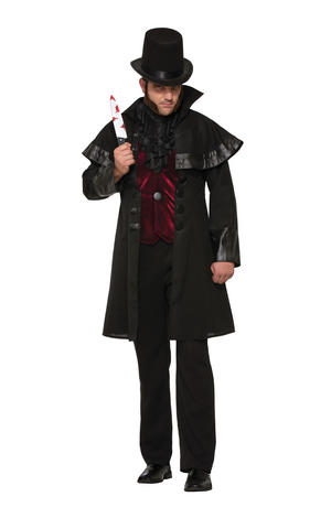Jack The Ripper Costume Halloween Fancy Dress Costume Male Mens Adult One Size