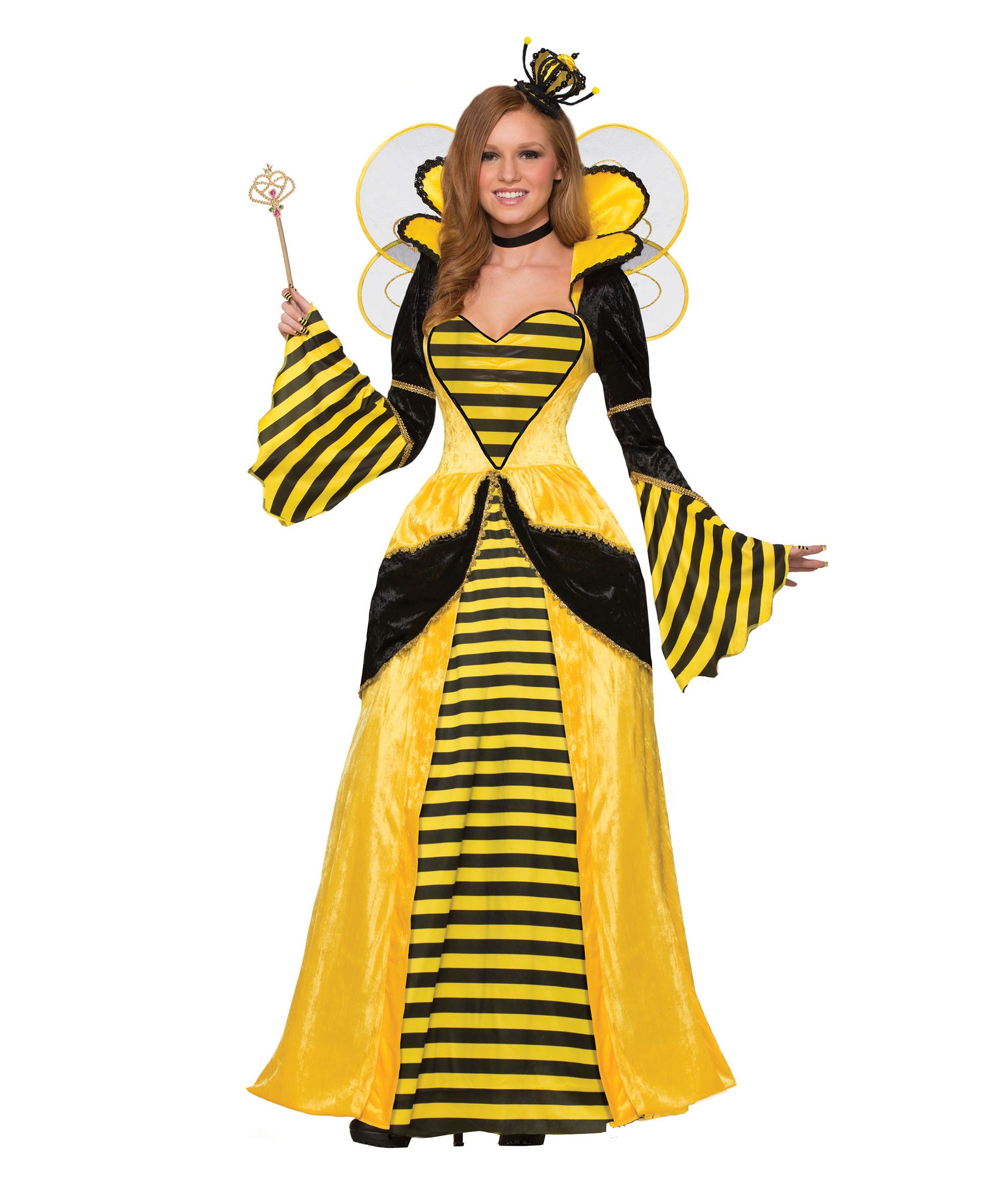 Queen Bee Costume Halloween Fancy Dress Costume Outfit Womens Adult UK 10-12