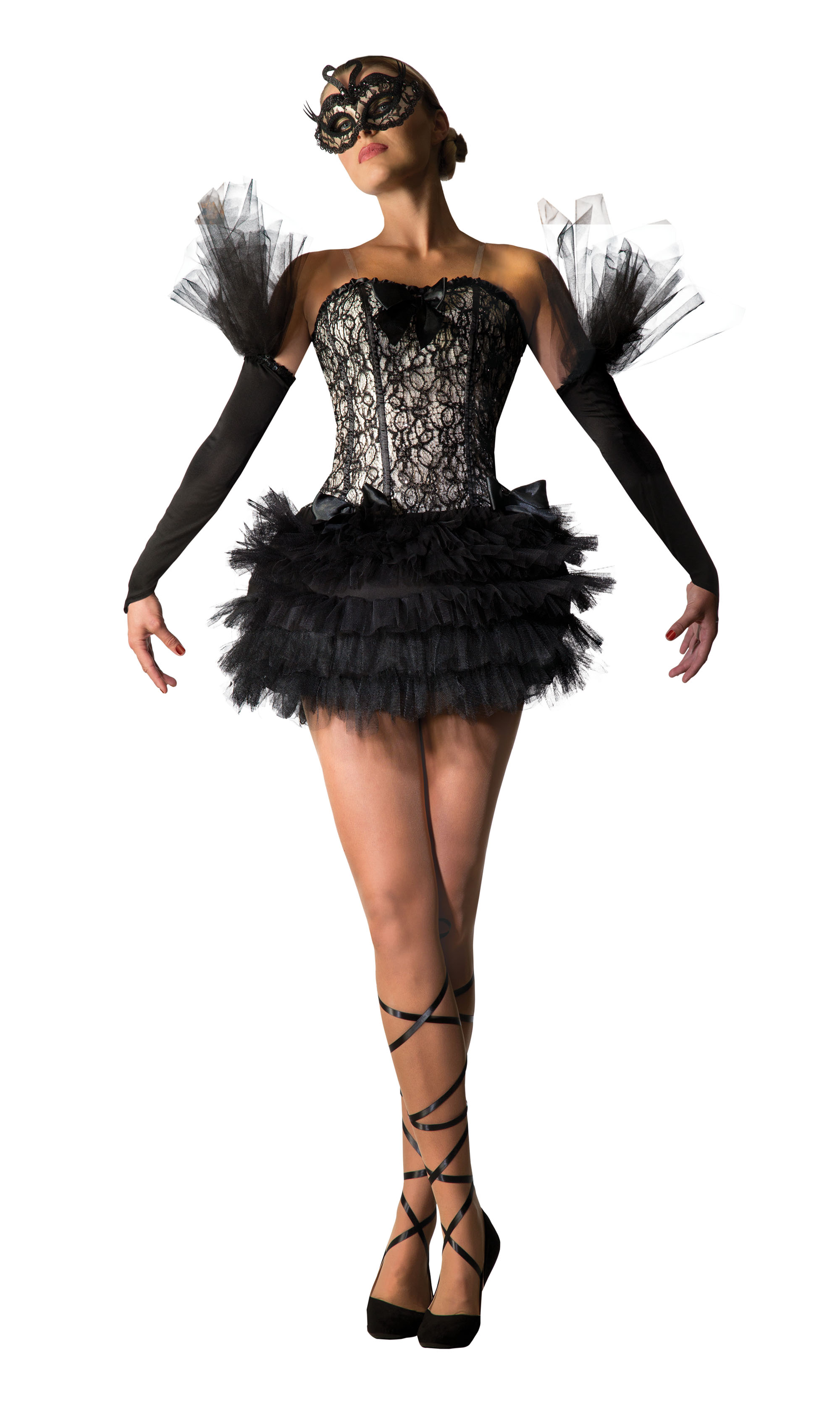 Black Swan Ballerina Fancy Dress Costume Outfit Womens Adult UK 10-12  sc 1 st  Fancy Dress 365 & Black Swan Ballerina Fancy Dress Costume Outfit Womens Adult UK 10 ...
