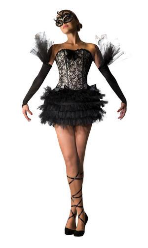 Black Swan Ballerina Fancy Dress Costume Outfit Womens Adult UK 10-12