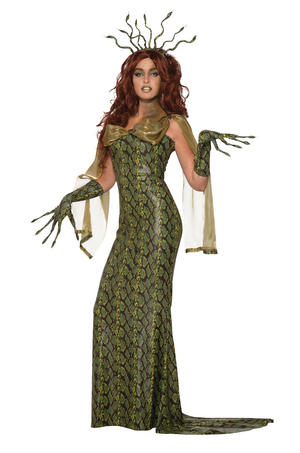 Medusa Costume Deluxe Halloween Fancy Dress Costume Outfit Womens Adult UK 10-12