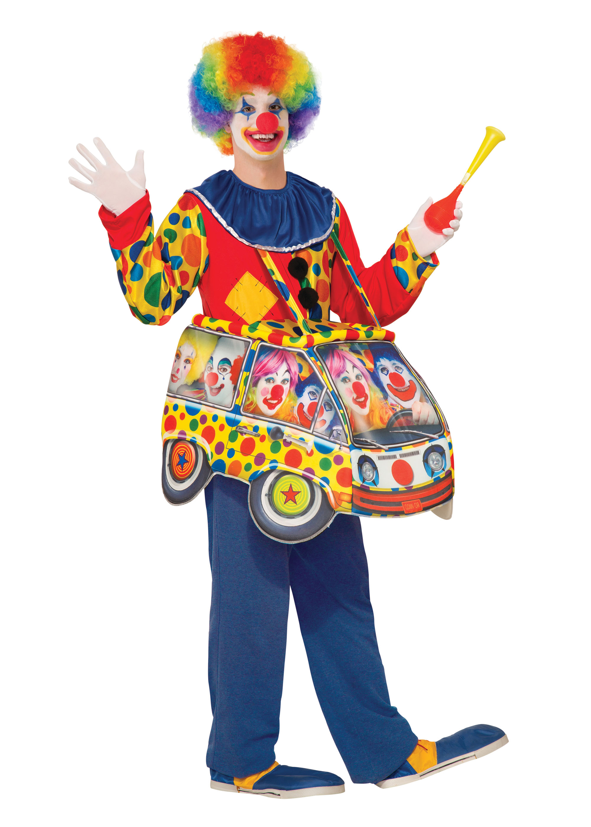 Clown Car Step In Costume Fancy Dress Costume Outfit Male Mens Adult One Size