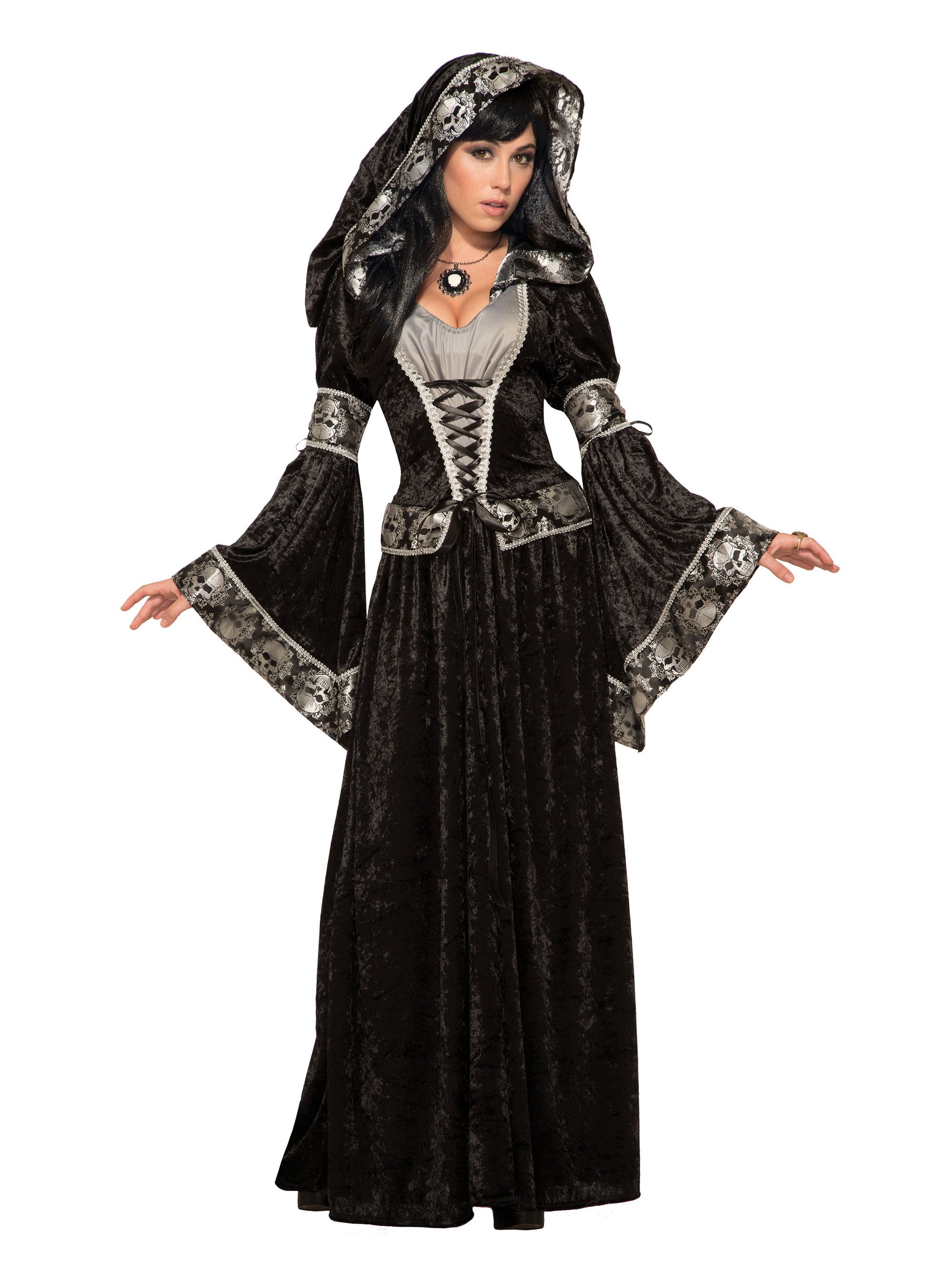 Dark Sorceress Halloween Fancy Dress Costume Outfit Womens Adult UK 10-12