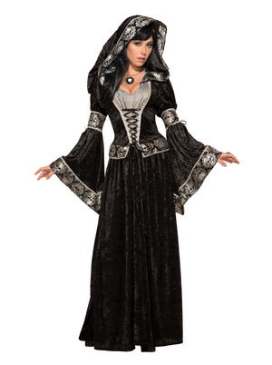 Dark Sorceress Halloween Fancy Dress Costume Outfit Womens Adult UK 10-12