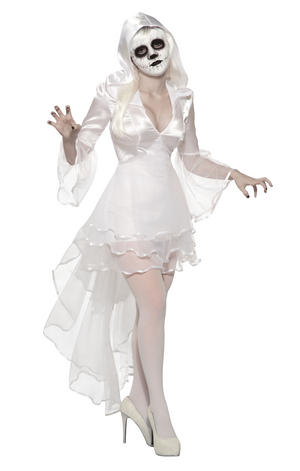 Banshee Costume Halloween Fancy Dress Costume Outfit Womens Adult UK 10-12