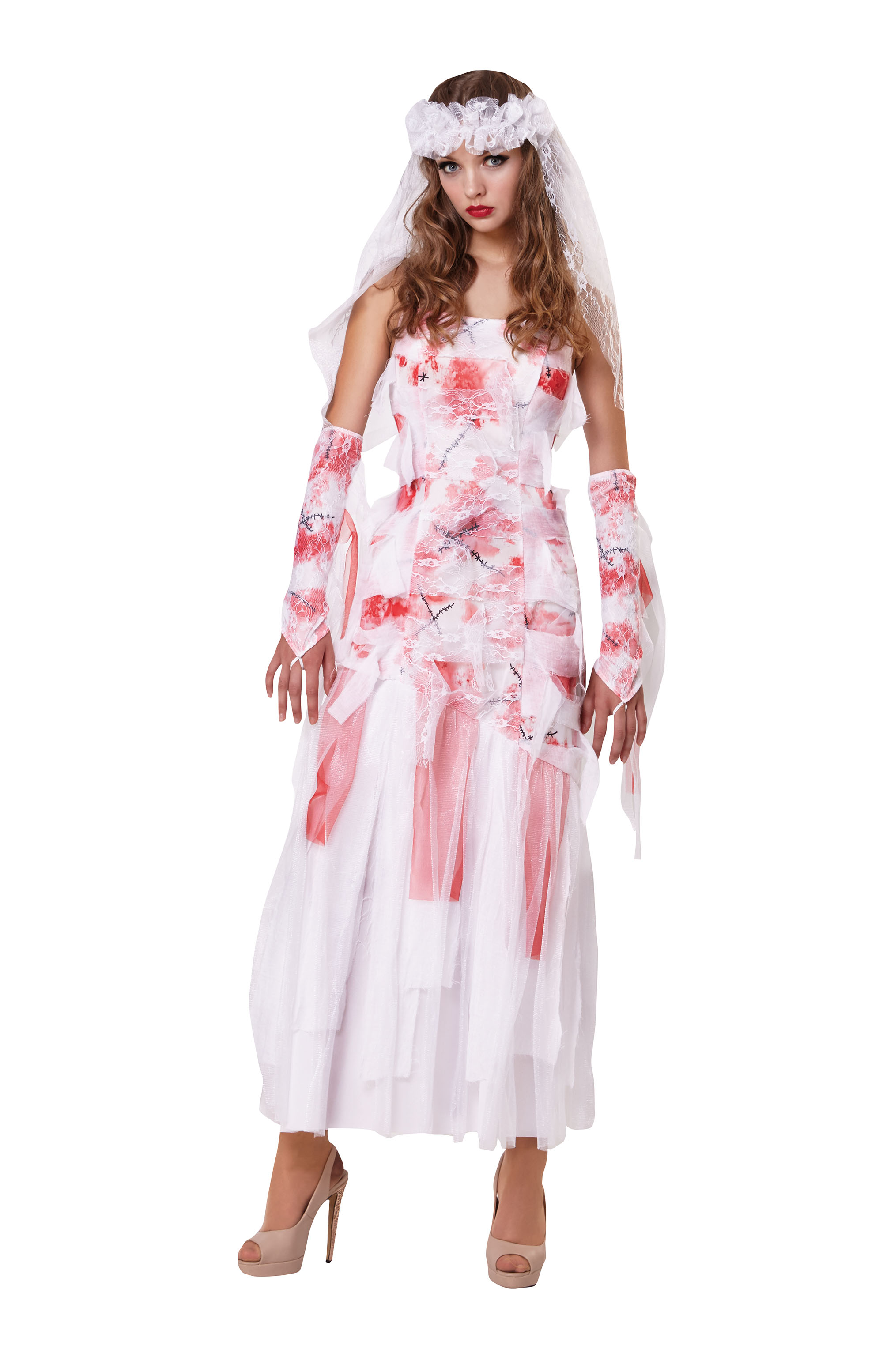 Grave Bride Fancy Dress Costume Outfit Womens Adult UK 10-12