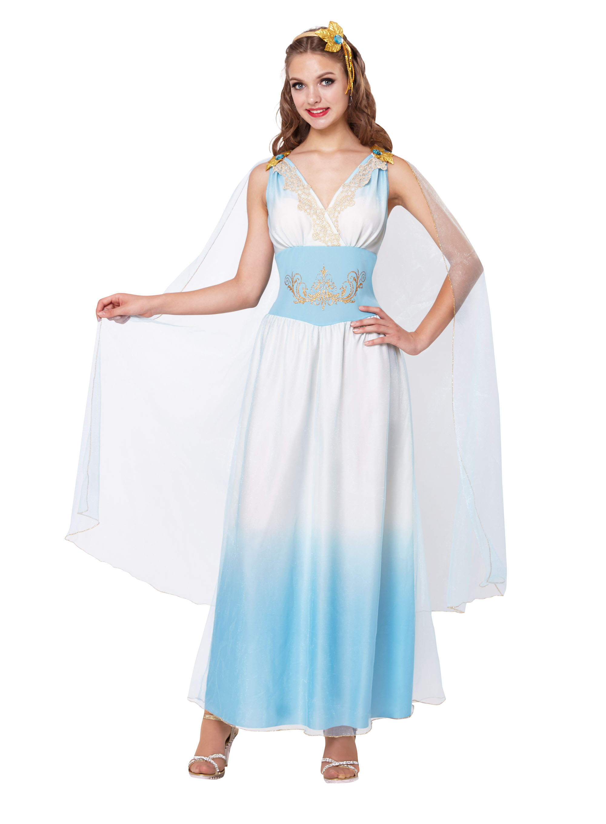 Roman Empress Fancy Dress Costume Outfit Womens Adult UK 10-12