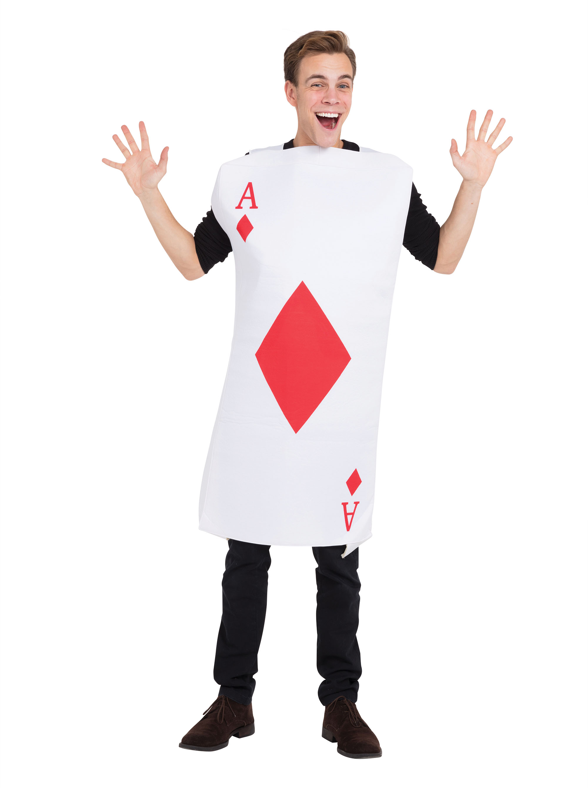 Ace Of Diamonds Costume Fancy Dress Costume Outfit Male Mens Adult One Size