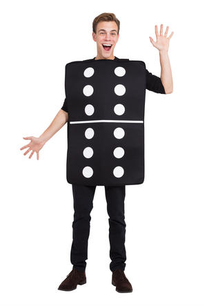 Domino Costume Fancy Dress Costume Outfit Male Mens Adult One Size