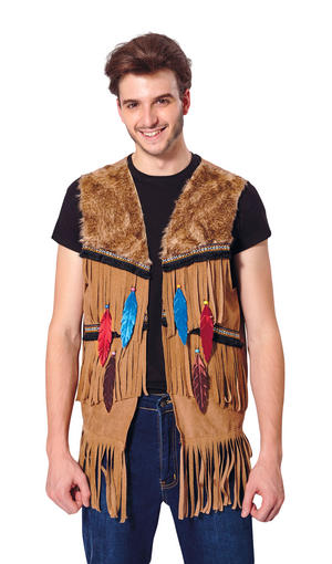 Indian/Hippy Waistcoat Male Fancy Dress Costume Outfit Male Mens Adult One Size