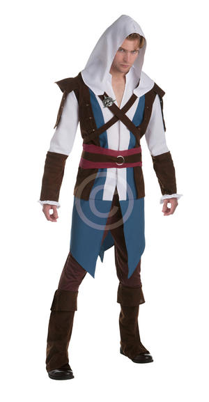 Edward Kenway Classic Adult Costume Fancy Dress Costume Outfit Male Mens Adult L
