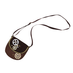 Steampunk Vintage Cogs Bag Handbag Fancy Dress Prop