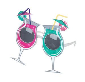 Cocktail Glasses Novelty Sunglasses Fancy Dress Costume Accessory Prop