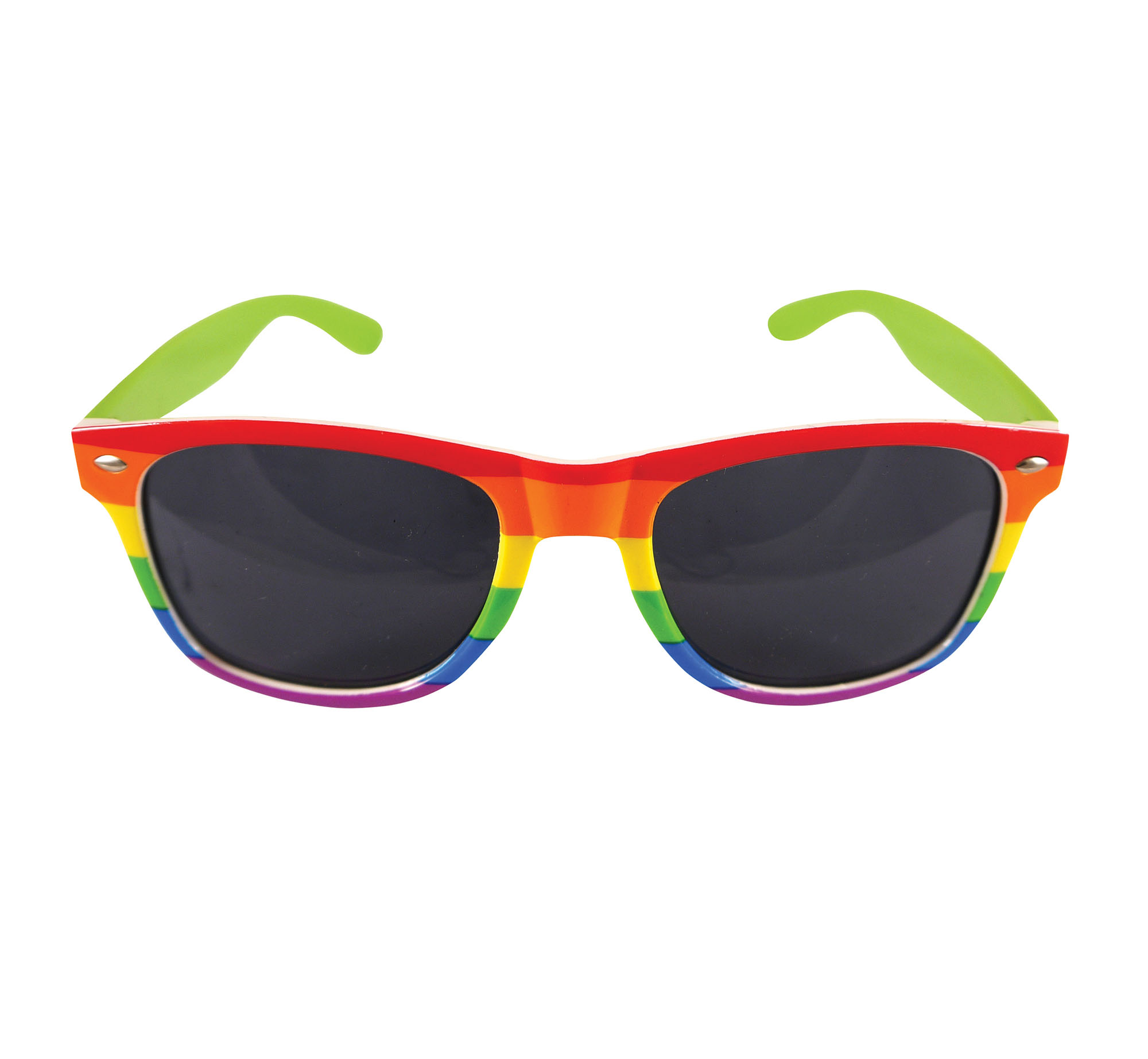 Rainbow Dark Lens Glasses Fancy Dress Costume Accessory Prop Gay Pride