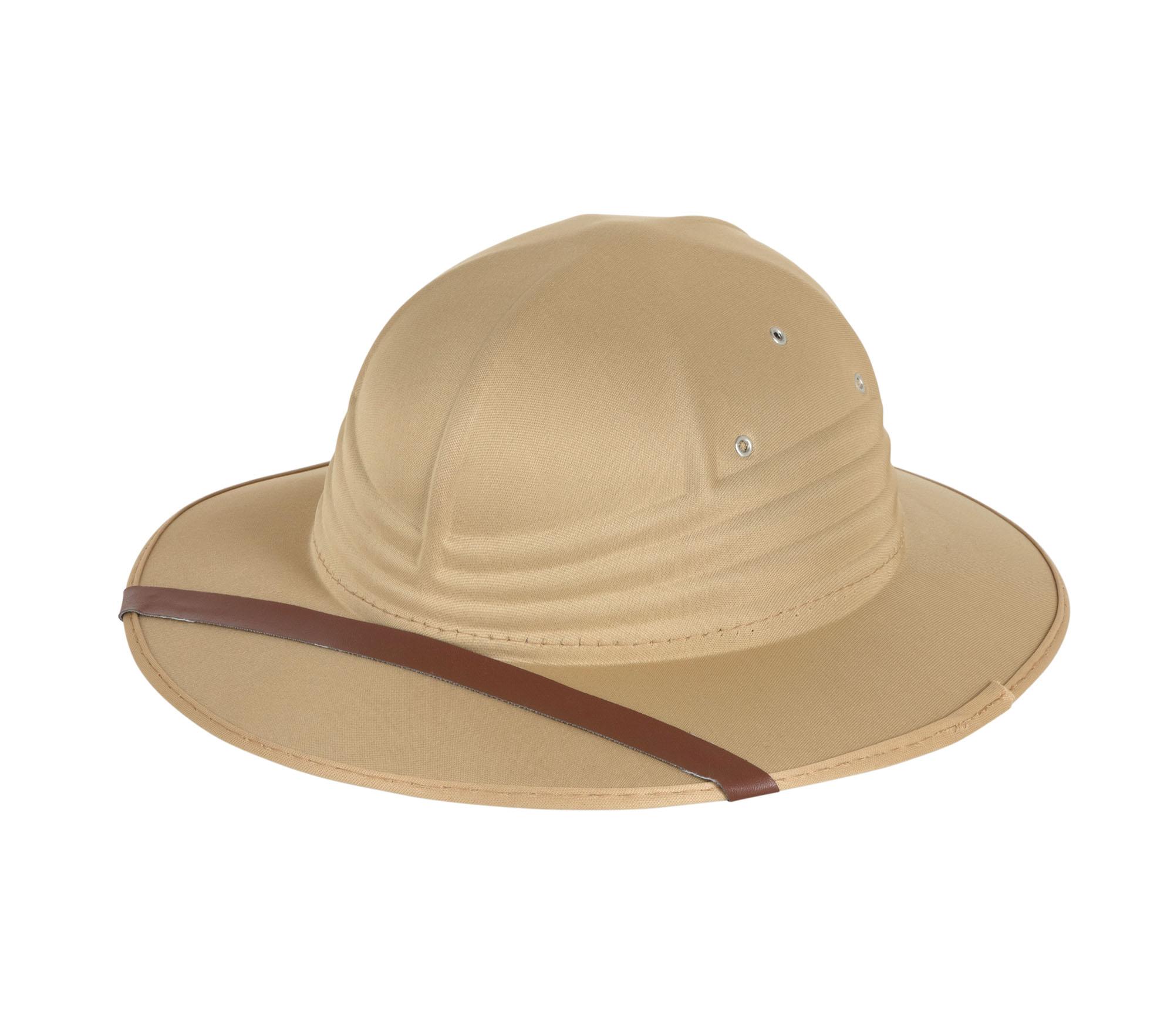 6074e988fe Details about Safari Hat Beige Nylon Felt Zulu Fancy Dress Costume  Accessory Prop