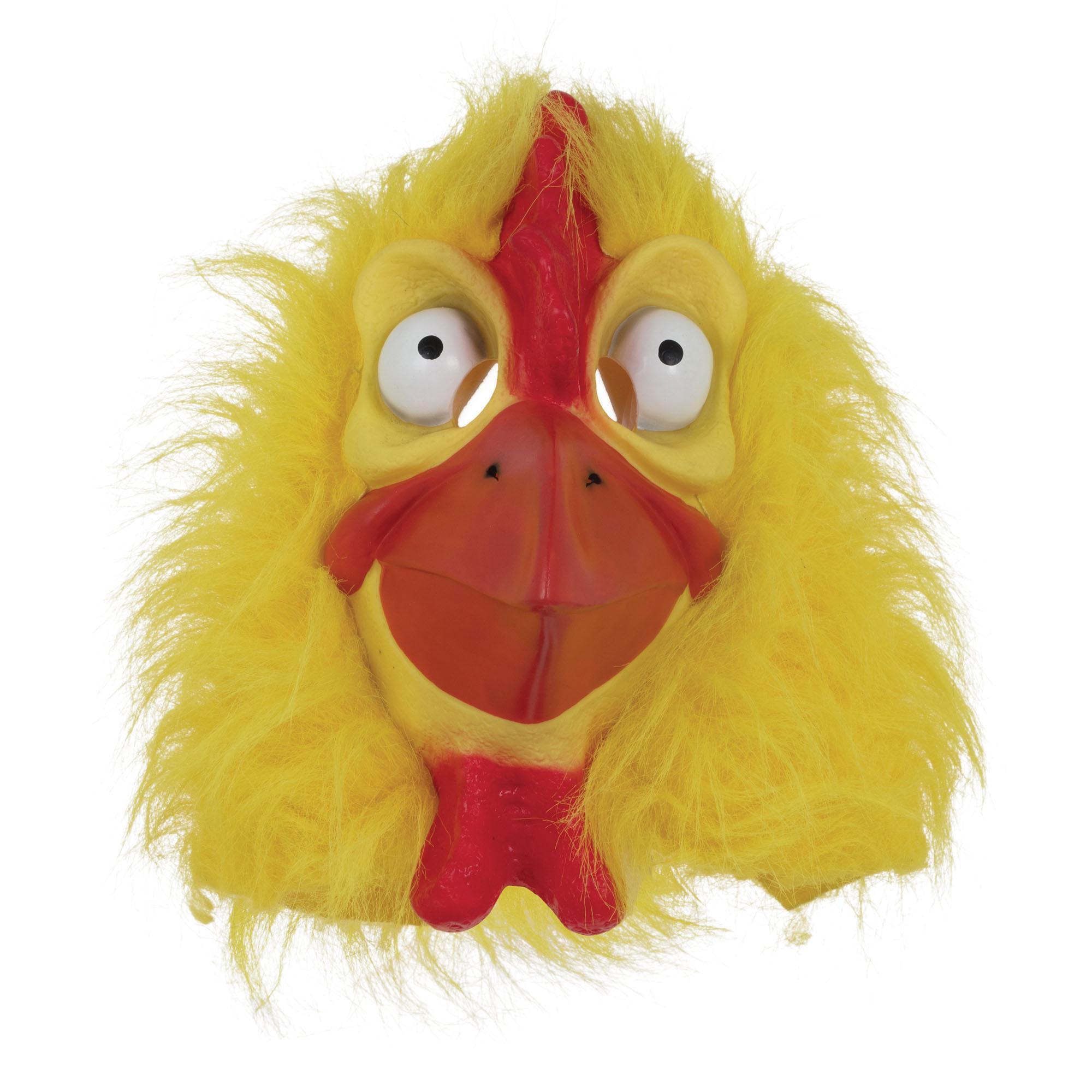 Chicken Mask Yellow Fur Animal Easter Fancy Dress Costume Mask | eBay