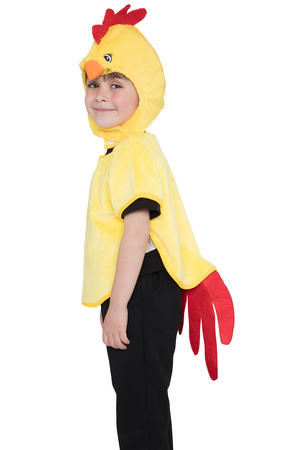 Chick Tabard Hood & Tail Kids Fancy Dress Costume Outfit Easter
