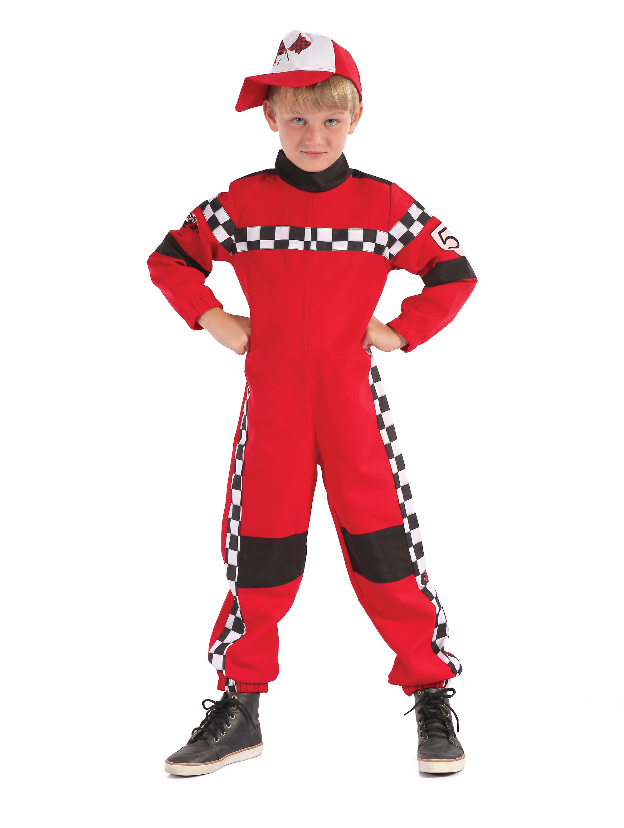 3fe73db3f6 Sentinel Racing Driver Boys Jumpsuit Cars Kids Fancy Dress Costume Outfit S