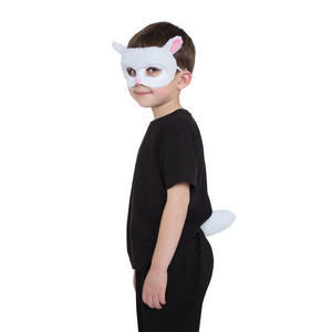 Lamb Fancy Dress Costume Prop Mask & Tail Set Kit Book Week