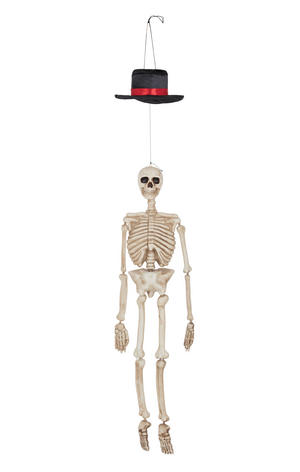 Hanging Skeleton w/ Movement & Sound Halloween Party Decoration Prop