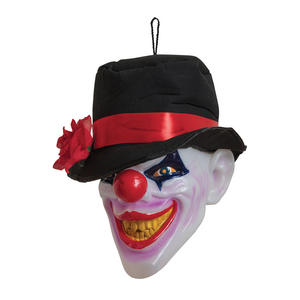 Clown Head Scary w/ Light & Sound Halloween Party Decoration Prop