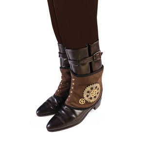 Steampunk Vintage Cogs Spats Fancy Dress Accessory