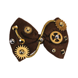 Steampunk Vintage Cogs Bow Tie Fancy Dress Accessory