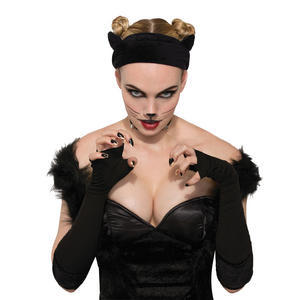Cat Ears on Velvet Band Halloween Fancy Dress Accessory