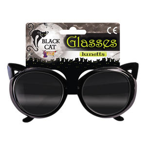 Black Cat Glasses Halloween Fancy Dress Accessory