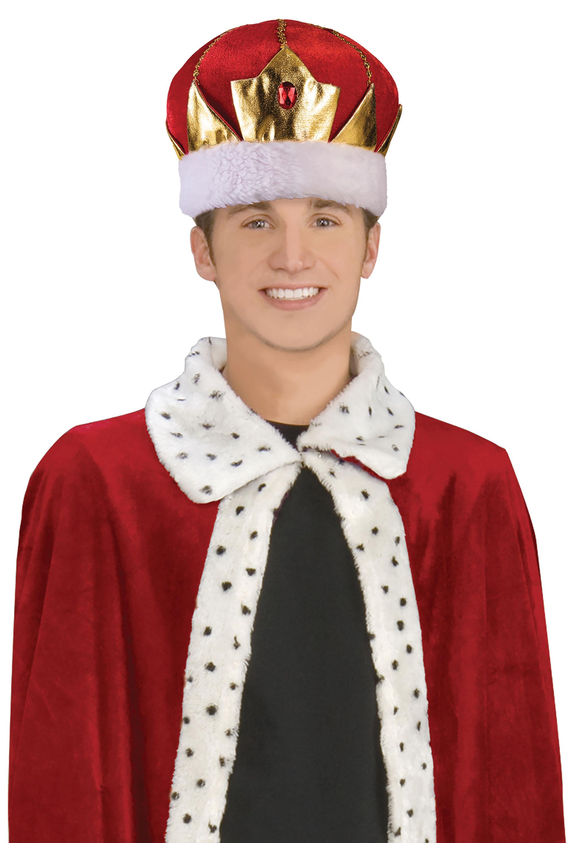 King Hat Red Soft Fancy Dress Accessory