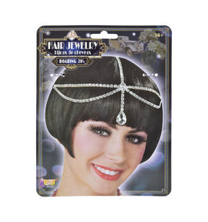 Roaring 20s Charleston Flapper Hair Headpiece Jewellery Fancy Dress Accessory
